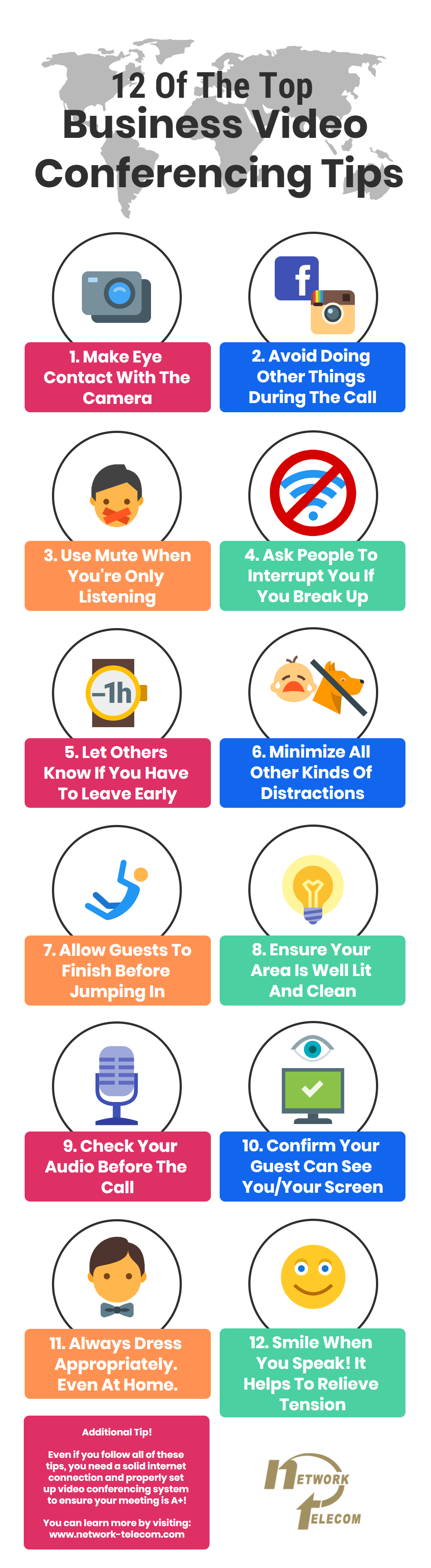 Top 10 Video Conferencing Tips Infographic