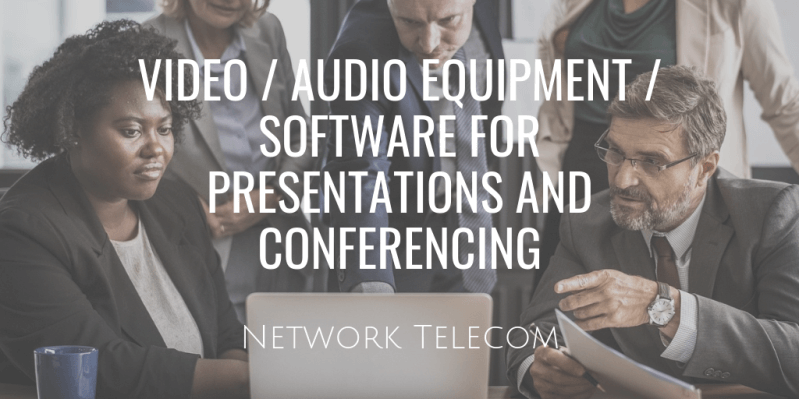 Video Audio Equipment Software for Presentations and Conferencing