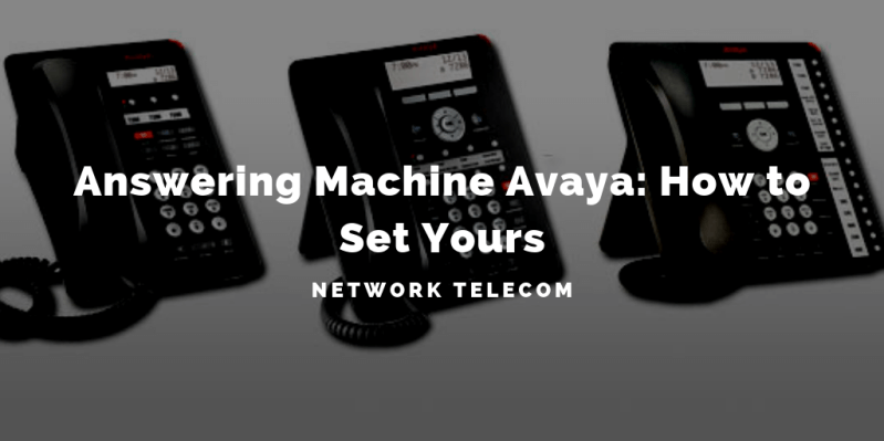 answering machine avaya how to set yours