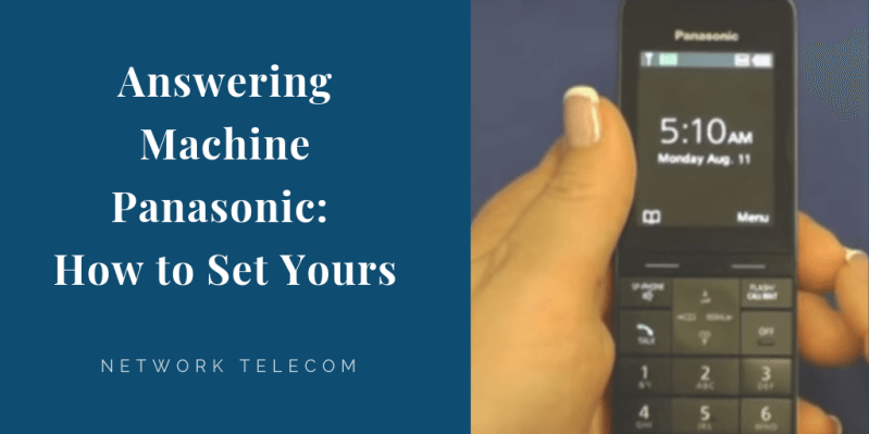 answering machine panasonic how to set yours