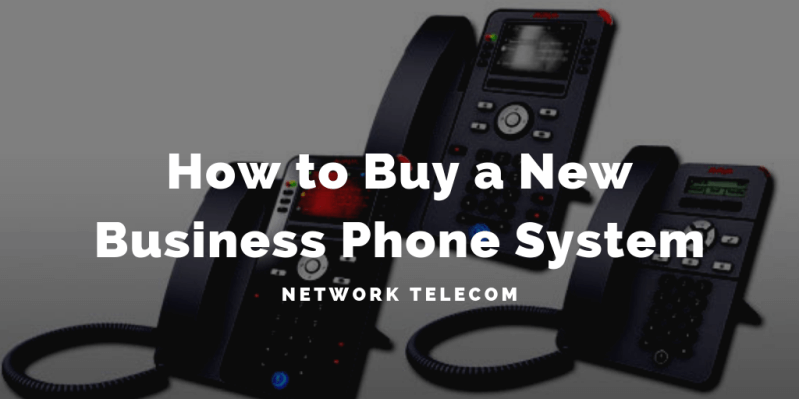 how to buy a new business phone system